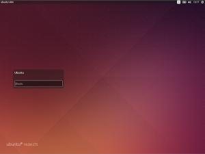 Wygląd zablokowanego ekranu w Ubuntu 14.04.