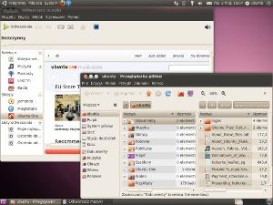 Ubuntu 10.04 - Pulpit, Rhythmbox i Nautilus