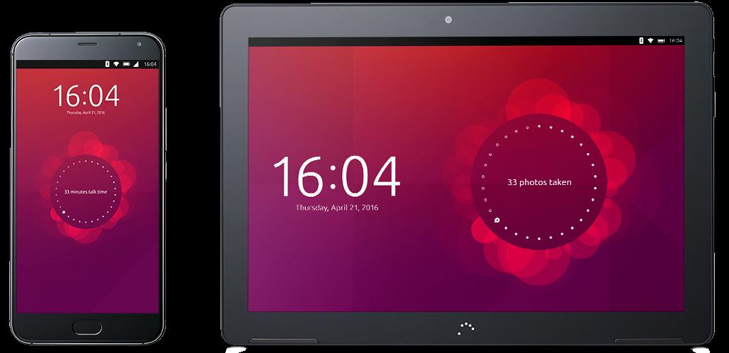 Telefon i tablet z Ubuntu