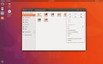 Pulpit Ubuntu 17.10 wraz z oknem Nautilusa