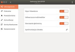 Ustawienia GSConnect w Ubuntu